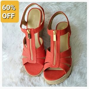 New Michael Kors Berkley Espadrille Wedge Sandals